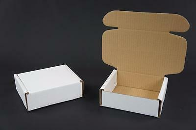 50 White Postal Cardboards Boxes Mailing Shipping Cartons Small Parcel Mail AP7