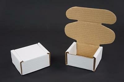 100 White Postal Cardboards Boxes Mailing Shipping Cartons Small Parcel Mail AP6