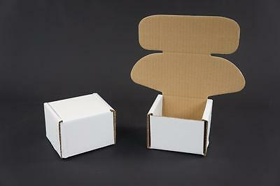 200 White Postal Cardboards Boxes Mailing Shipping Cartons Small Parcel Mail AP5