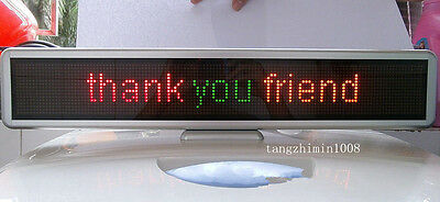 "21"" LED Message Sign Scroll Moving Display  Desk board Programmable 3 color"