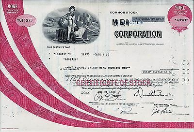 Mei Corporation, Delaware, 1980 (139.001 Shares) !!