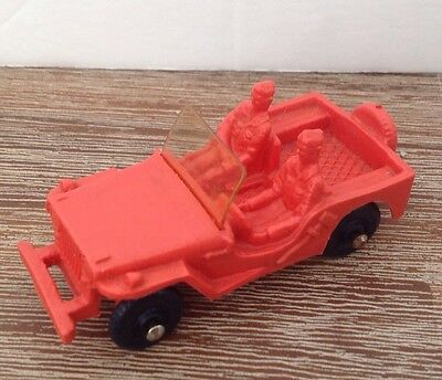 Vintage ARMY JEEP red NO 2 TOMTE LAERDAL Stavenger NORWAY 1/32 Great condition