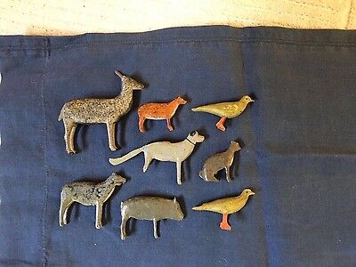 Small Group Antique Noah's Ark Animals