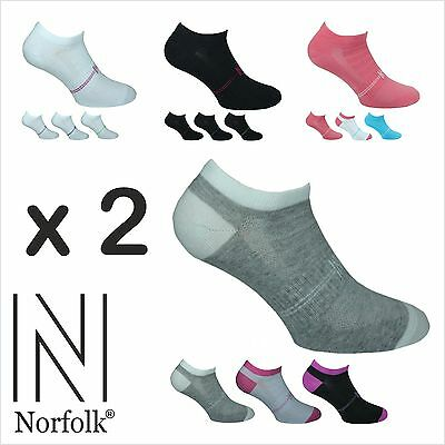 2 x Womens Norfolk 3 Pack Cotton Low Cut / Trainer / Sports Socks -Minnie