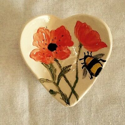 ceramic heart shaped ring dish valentine, mothers day