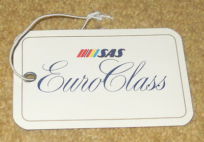 SAS Euro Class Baggage Tag from 1980s New / Unused