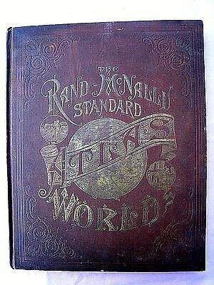 """"""" Rand-McNally Standard Atlas of the World """".....1890.....196 Pages"""