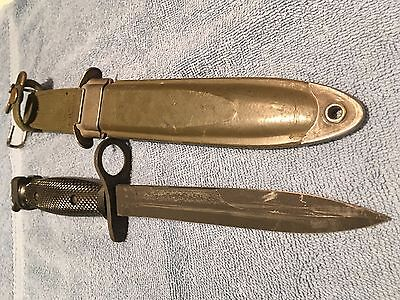 M7bayonet Imperial and Rare WD M8A1 scabbard vintage