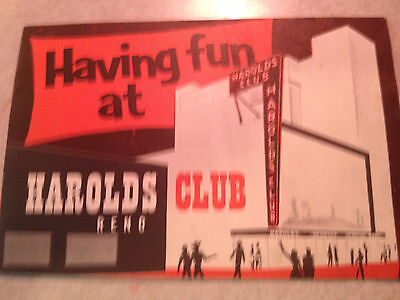 Great Vintage Harolds Club Casino How-To Promo Booklet.  1955.  Reno. Cool