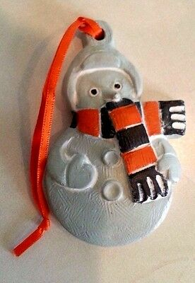 Old 2011 Isabel Bloom Snowman Holiday Christmas Tree Ornament