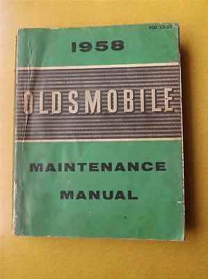 1958 Oldsmobile Maintenance Manual Car Service Repair General Motors Canada