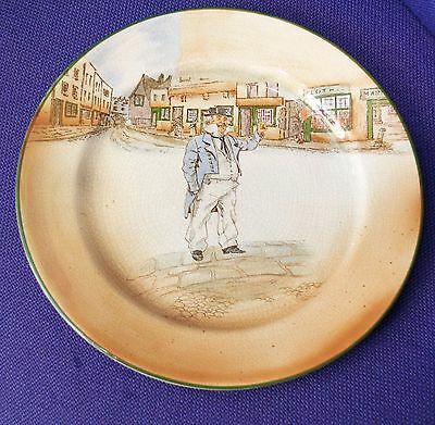 Royal Doulton Dickens Ware Cap'n Cuttle Plate D2793