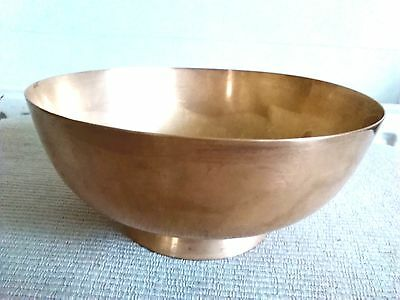 Vintage Heavy Solid Brass Bowl