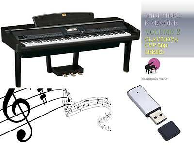 MIDI File Karaoke USB stick for CLAVINOVA CVP 500,600 SERIES NEW Volume 2