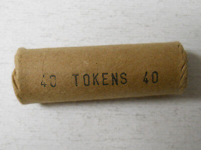 Roll of 40 United Railway Co. of St. Louis (Missouri) transit tokens