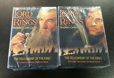 Lord Of The Rings Ccg Starter Deck Lot Of (2) Gandalf & Aragorn