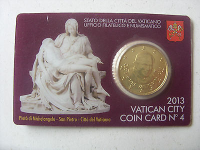 Rare !!! 50 Eurocents 2013 Vatican  Coin Card  Michelangelo  I  B.u.card 4