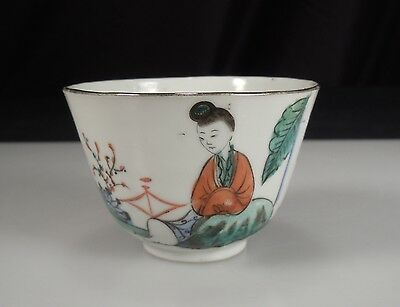 Chinese Porcelain Famille Verte Tea Cup