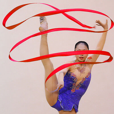 Dance Ribbon Gym Rhythmic Art Gymnastic Ballet Streamer Twirling Rod Toy For Kid