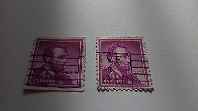 USA Lincoln 4 cents stamps 2x