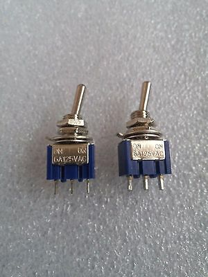 1 x PAIR - 3 Way Toggle Switch (ON / OFF / ON) Single Pole Double Throw (SPDT)