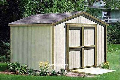 12 X 12 Gable Style Storage Shed Plans Building Blueprints