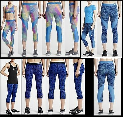 fdee583247437 NWT Womens XS S XL Nike Pro HyperCool Graphic Training Capris Tights Workout