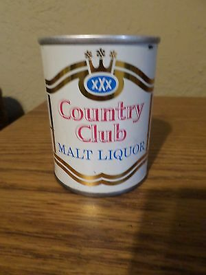Vintage XXX Country Club Malt Liquor Pearl Brewing 8 oz Straight Steel Beer Can