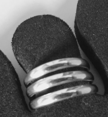 Toe Ring Sterling Silver 925 Adjustable Double Band Women Jewellery Beach New