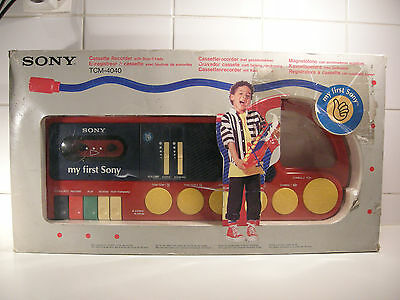 My first Sony TCM-4040 Cassette Recorder with Sound Drum Pads *BOXED*