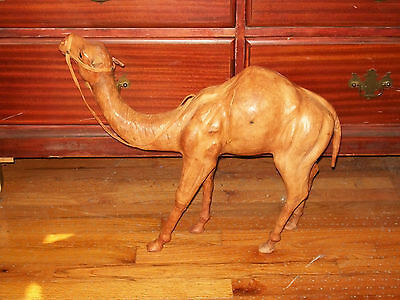 """Leather Camel Statue - """"19 Tall"""