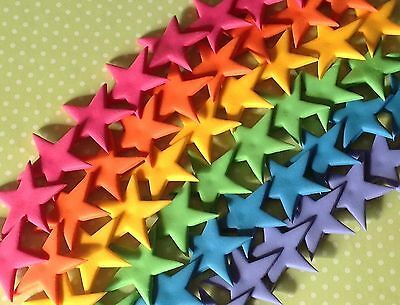 ** 60 Edible Rainbow Coloured Stars Cake Toppers BIRTHDAY CUPCAKES DECORATIONS *
