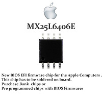 EFI BIOS firmware IC for  MacBook Air  and Pro  Programmed with own Serial no