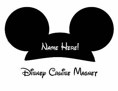 Disney Personalized  Mickey Mouse Black Cruise Magnet 9.75 x 4.5 inches