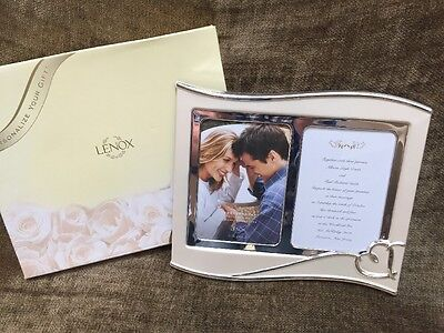 """Lenox Forevermore Double Silverplate Marriage Photo & Invitation Frame 2-5x7"""""""