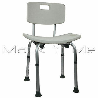 Shower Chair Seat Stool Curved Bath Aluminium With Height Adjustable Medical