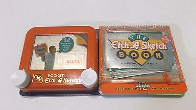Etch A Sketch Book Pocket Version With 12 Stick On Games BRAND NEW FAST S&H