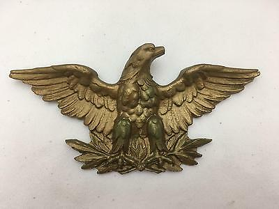 Vintage Wall Hanging Eagle w Spread Wings Syroco Type Material