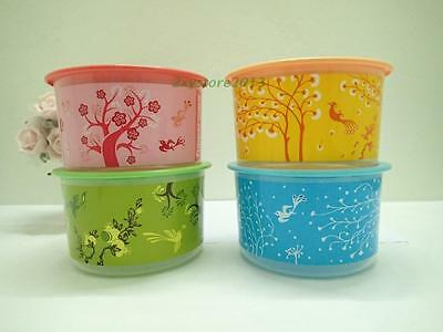 New Tupperware 4 x 950ml One Touch Topper Four Seasons Set Red Green Blue Orange