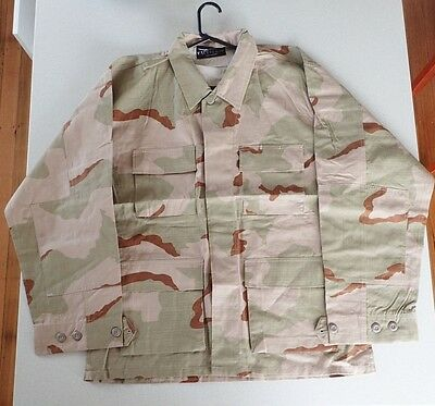 Australia Army Tact Gear Desert Cam Camouflage Jacket {New} Size L/R  ( Lot 2)