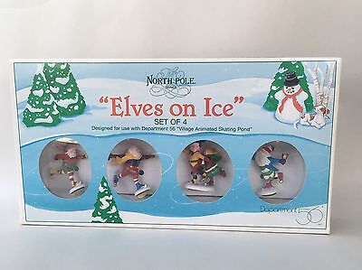 """Department 56 North Pole Series """"Elves On Ice"""" NEW IN BOX"""