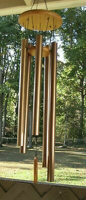 "X-Large Curved Tubular 48""Wind Chime-6 Aluminum Tubes.Beautiful Tones.NEW. LOOK!"