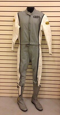 BATES CALIFORNIA Leather MOTOCROSS RACING Jacket Motorcycle SUIT Fast Lane BOOTS