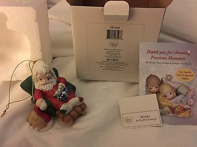 And To All a Goodnight 2015 Precious Moments Ornament Santa Claus Puppy Recliner