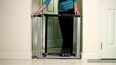 Dreambaby Atlantis Child Toddler Pet Security Safety Gate Black Silver Metal New