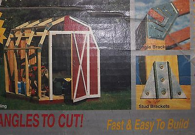 NEW quick framer shed kit model #4250 NO ANGLES TO CUT 7x8 FEET