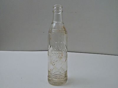 RARE Old Colony Beverages Embossed Orange Crush Soda Pop Bottle - Clear Glass