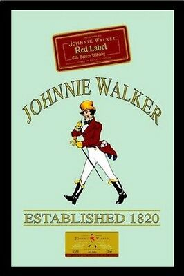 Johnnie Walker Red Label Nostalgia Bar Mirror Mirror Bar Mirror 8 11/16x12 5/8in