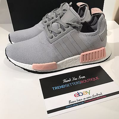 789a732ec ADIDAS NMD US Uk 4 5 6 7 8 9 10 Pink Grey Womens R1 Office By3058 ...