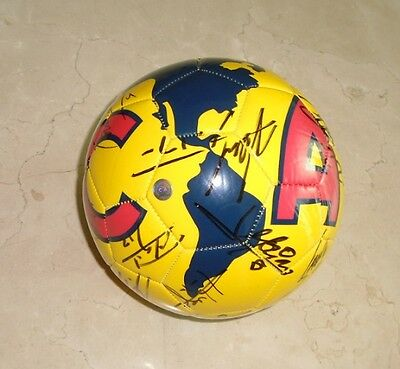 2014 Club America Champions Team Squad hand signed autographed ball Mexico COA